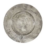 An impressive Charles II pewter broad rim charger, circa 1670