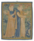 A section of early 17th century tapestry, Flemish