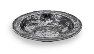 A rare Plantagenet/Tudor pewter dish, circa 1400-1500