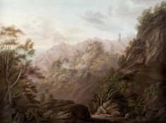 Follower of John Webber (British, London 1751-1793) A pair of mountain landscapes believed to be ...