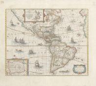 HONDIUS (HENRICUS) [CONTINENTS] America noviter delinieata; Asia recens summa cura delineata; Afr...