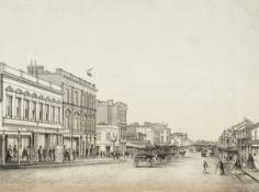 COGNÉ (FRANCOIS) Swanston Street; Sandridge; Botanical Gardens, from Charles Troedel's 'The...