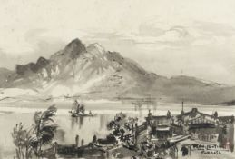 Ran In-Ting (Lan Yinding) (Taiwanese, 1903-1979) View of the Tamsui River, Formosa