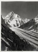 SELLA (VITTORIO) '179. K2 and Staircase, from above Godwin Austen Glacier - make panorama with No...