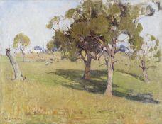 William Dunn Knox (Australian, 1880-1945) 'The Home Paddock'