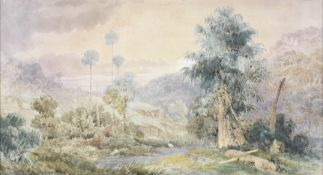 Frederic Casemero Terry (Australian, 1827-1870) An Australian view believed to be in the forests ...