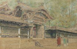 Ioki Bun'ya (Bunsai) (Japanese, 1863-1906) The Karamon of the Shinto shrine Nikkō Tōsh...