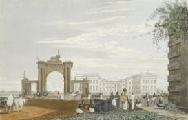 James Baillie Fraser (British, 1783-1856) 'A View of Government House, from the Eastward'; 'A Vie...