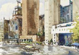 Ong Kim Seng (Singaporean, born 1945) United Overseas Bank Plaza from Singapore River