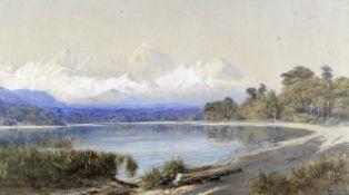 John Gully (New Zealander, 1819-1888) The Remarkables from the edge Lake Wakatipu, Otago, New Zea...