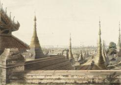 Lieutenant Joseph Moore (British, active circa 1824) Scene Upon the Eastern Road from Rangoon Loo...