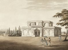 Francis Swain Ward (British, 1734-1794) 'Fort Square, from the South Side of the Parade', with 4 ...