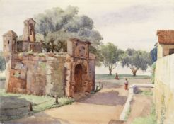 M. Barnard, early 20th century The main gate of the Fortress of Malacca, Malaysia (unframed)