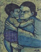 Chuah Thean Teng (Malaysian, 1914-2008) 'Mother and Child'