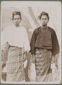 MYANMAR - PHOTOGRAPHIC ARCHIVE Album of approximately 96 views, portraits, groups of Burma, [c.19...