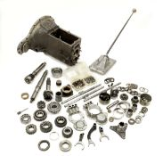 A Bugatti Type 57/57s gearbox with component parts, ((Qty))