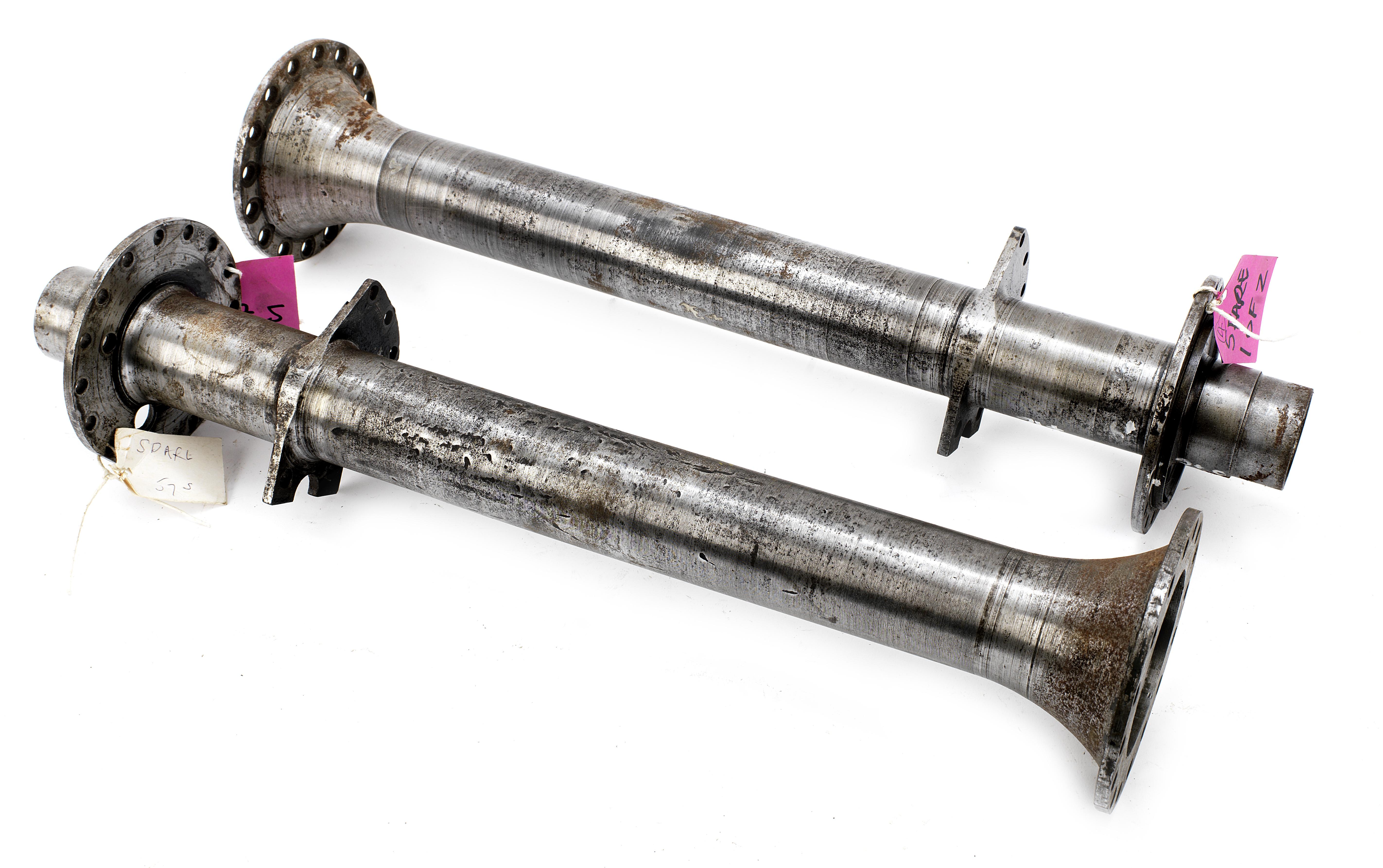 A pair of Bugatti Type 57/57s rear axle trumpets, ((2))