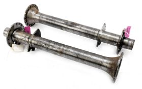 A pair of Bugatti Type 57/57s rear axle trumpets, ((2))