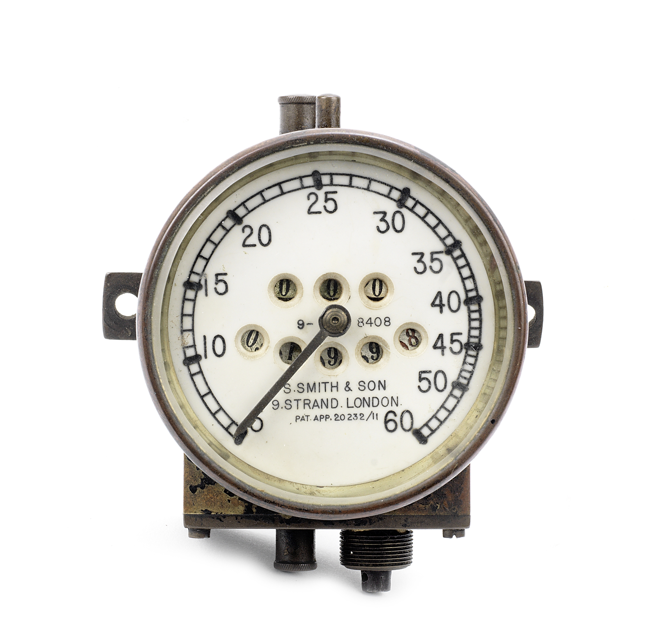 A Speedometer by S.Smith & Son, British, patented 1911,