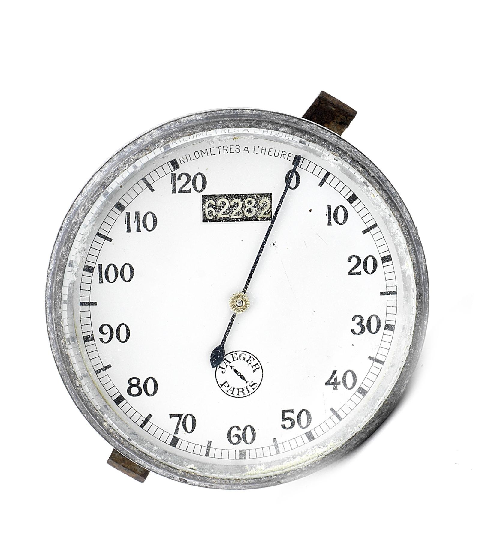 A Jaeger Paris chronometric 0-120KPH speedometer,