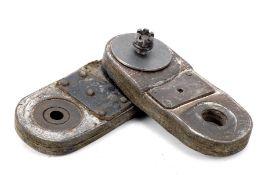 A Bugatti Type 57S leather torque reaction arm flexible coupling,