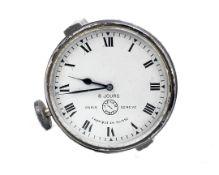 A Jaeger Paris 8 day car clock,