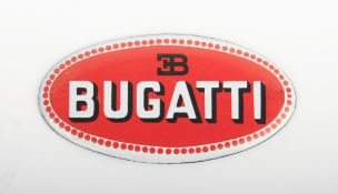 An enamel Bugatti radiator badge,