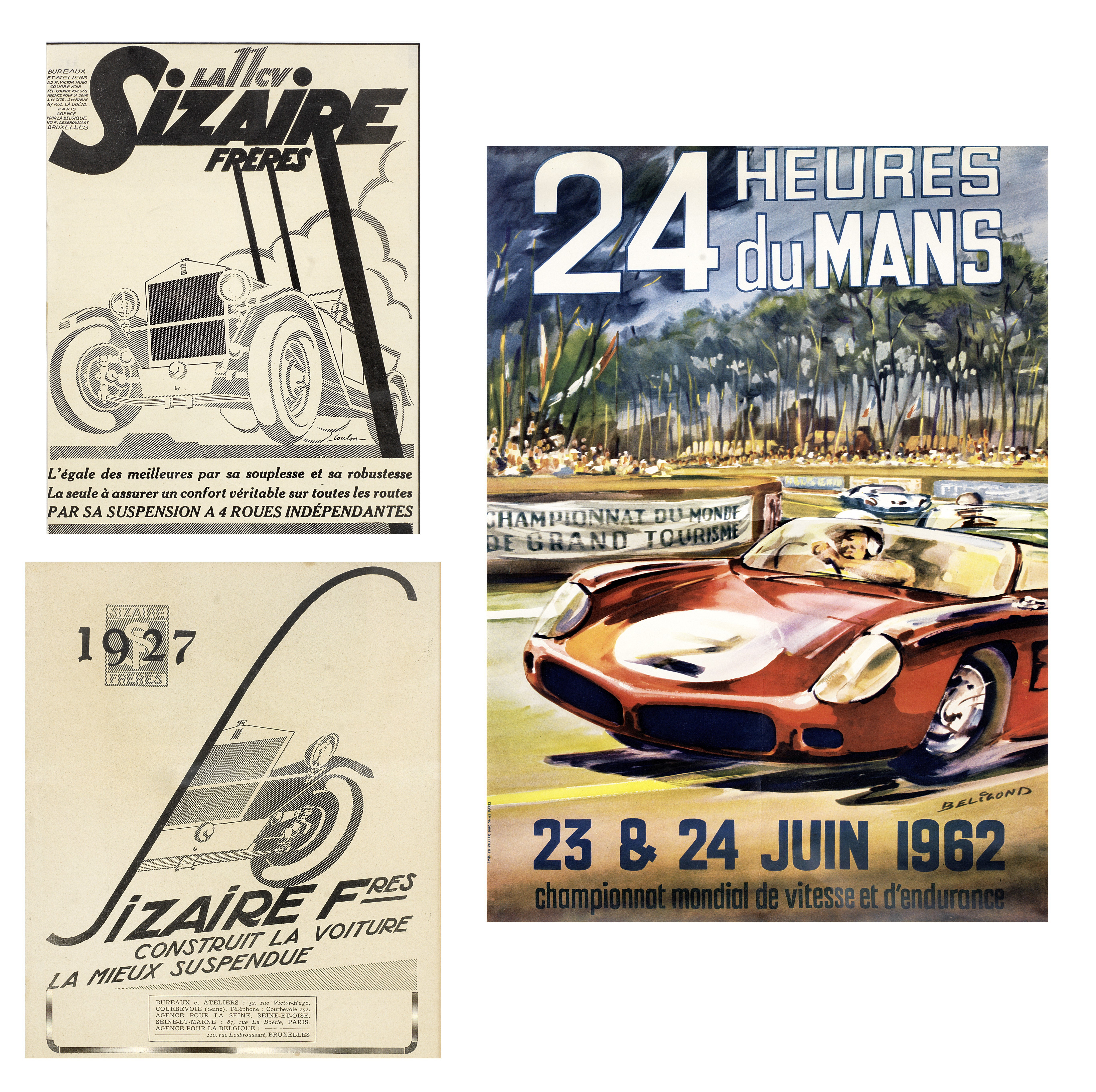 Three motoring posters, ((3))