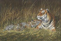 Chris Christoforou (Cypriot, born 1954) Tiger and Cubs