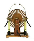 A Ducretet & Lejeune 18 1/2-inch twin disc Whimshurst machine, French, late 19th century,