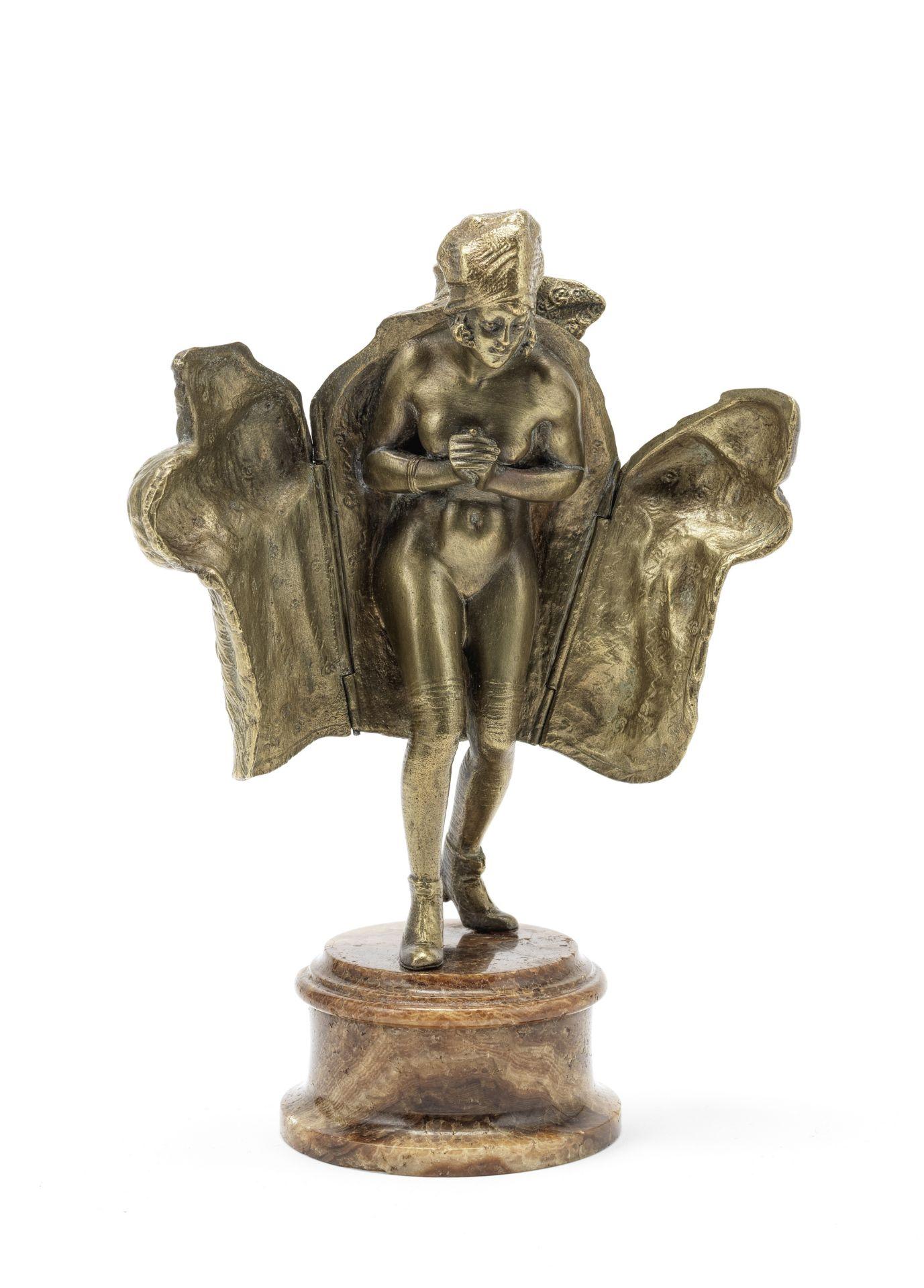 After Bruno Zach (Austrian, 1891-1935): A gilt bronze metamorphic erotic figure of a 'fur coat la... - Image 2 of 2
