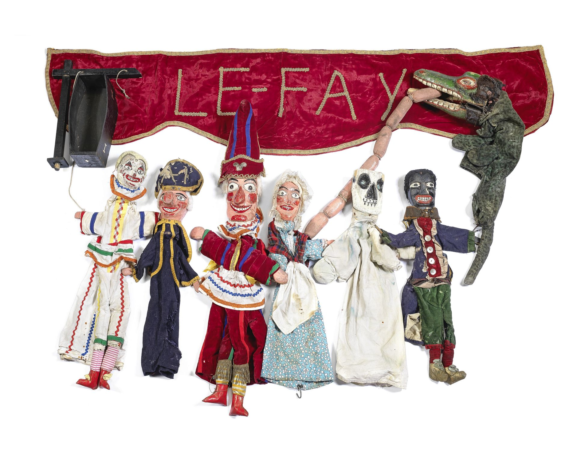A mid 20th century Punch and Judy puppet set used by Professor Le Fay, Southport (12)