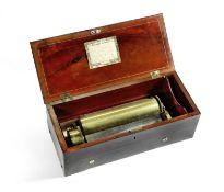 A Nicole Freres key-wound two-per-turn cylinder musical box, Swiss, Circa 1844