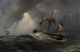 Charles Henry Seaforth (British, 1801-died after 1859) Ships of the Imperial Russian Navy in stor...