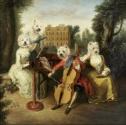 Thierry Poncelet (Belgian, born 1946) West highland white terriers as a Regency band performing i...