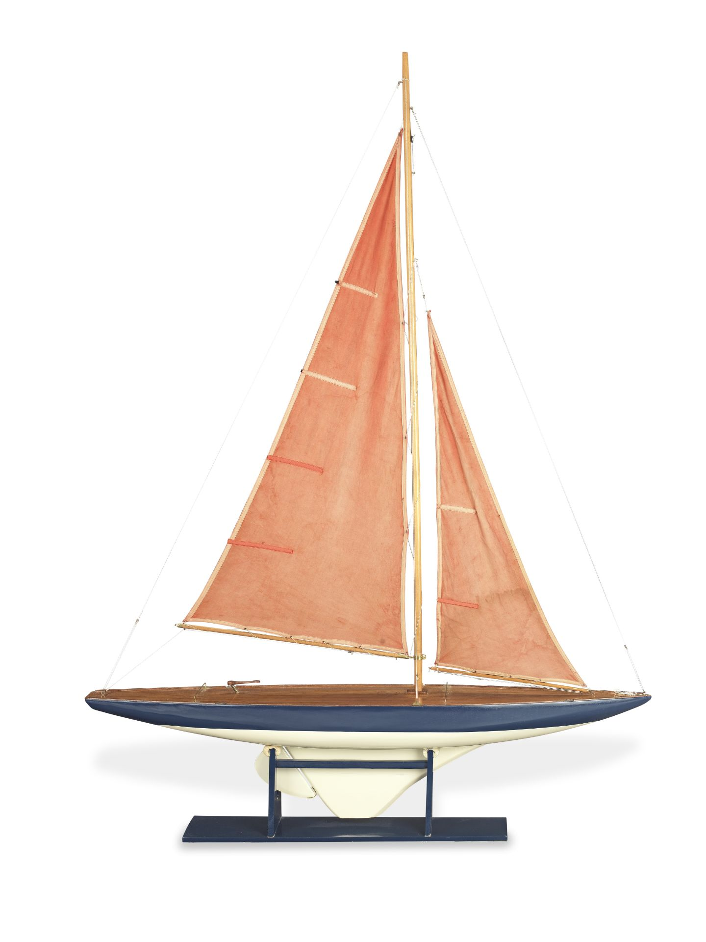 A large vintage mid 20th century pond yacht