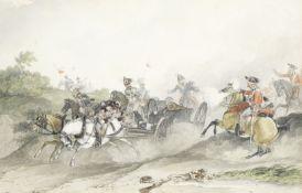 John Augustus Atkinson (British, 1775-1833) The 1st King's Dragoon Guards at Waterloo