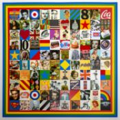 Sir Peter Blake R.A. (British, born 1932) 100 Sources of Pop Art, 2014 Screenprint and mixed medi...