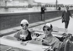 Ruth Orkin (1921-1985); Couple in MG, Florence, Italy;