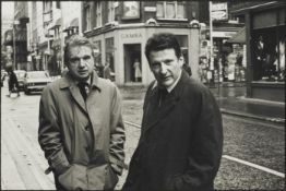 Harry Diamond (British, 1924-2009); Francis Bacon and Lucian Freud outside the 'French' pub, London;