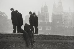Patrick Ward (British, born 1946); Students Watching the Eton Wall Game;