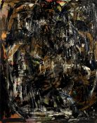 Bernard Cohen (British, born 1933) Untitled, 1950s (with a further abstract painting to the rever...