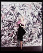 Cecil Beaton (British, 1904-1980) Fashion Study With Painting By Jackson Pollock, Vogue, 1951, pr...