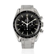 Omega. A stainless steel manual wind chronograph bracelet watch Speedmaster, Ref: 145.012-67 SP,...