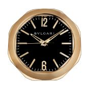Bulgari. A copper finish electronic quartz octagonal wall clock Octo, Ref: 102270, Recent