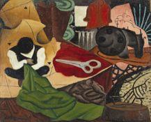 Antoine Irisse Kichinev (Moldavian, 1903-1957) Atelier du tailleur unframed (Painted in 1924)