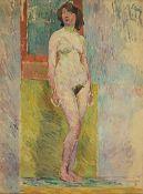 Rudolf Levy (Pomerania, 1875-1943) Nu debout dans l'atelier (Painted in 1910)