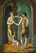 Simon Mondzain (Szamaj Mondszajn) (Polish, circa 1887/1888-1979) Accueil a l'Inconnu (Painted in...