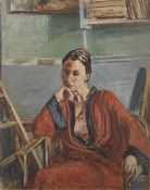 Isaac Dobrinsky (Ukrainian, 1891-1973) Portrait of Vera (Painted in c. 1950 unframed)
