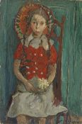 Chapiro Young girl Oil on canvas, Signed lower right 81 x 54 cm